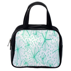 Pattern Floralgreen Classic Handbags (one Side)