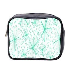 Pattern Floralgreen Mini Toiletries Bag 2 Side by Nexatart