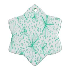 Pattern Floralgreen Ornament (snowflake) by Nexatart
