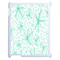 Pattern Floralgreen Apple Ipad 2 Case (white) by Nexatart