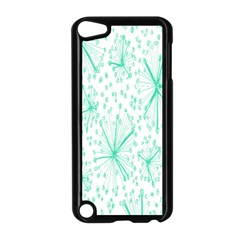 Pattern Floralgreen Apple Ipod Touch 5 Case (black)