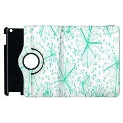 Pattern Floralgreen Apple Ipad 3/4 Flip 360 Case by Nexatart