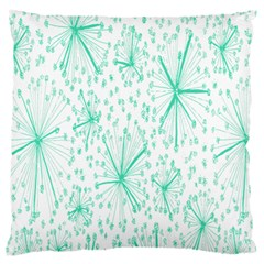 Pattern Floralgreen Standard Flano Cushion Case (one Side)