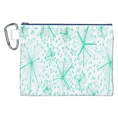 Pattern Floralgreen Canvas Cosmetic Bag (xxl) by Nexatart