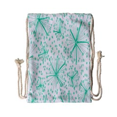 Pattern Floralgreen Drawstring Bag (small) by Nexatart