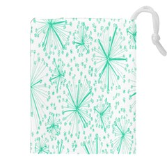 Pattern Floralgreen Drawstring Pouches (xxl) by Nexatart