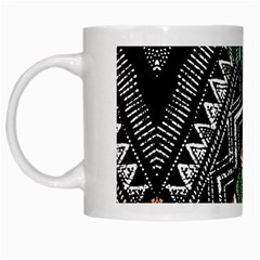Ethnic Art Pattern White Mugs by Nexatart