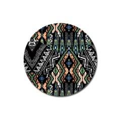 Ethnic Art Pattern Magnet 3  (round) by Nexatart