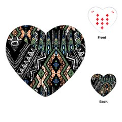 Ethnic Art Pattern Playing Cards (heart)  by Nexatart