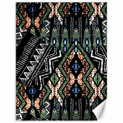 Ethnic Art Pattern Canvas 12  x 16