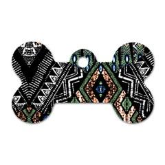 Ethnic Art Pattern Dog Tag Bone (two Sides) by Nexatart