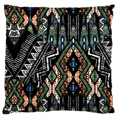 Ethnic Art Pattern Large Cushion Case (one Side) by Nexatart