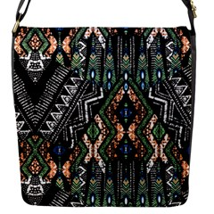 Ethnic Art Pattern Flap Messenger Bag (s)