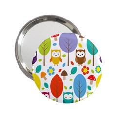 Cute Owl 2 25  Handbag Mirrors by Nexatart