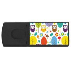 Cute Owl Usb Flash Drive Rectangular (4 Gb)