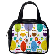 Cute Owl Classic Handbags (one Side)