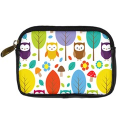 Cute Owl Digital Camera Cases by Nexatart