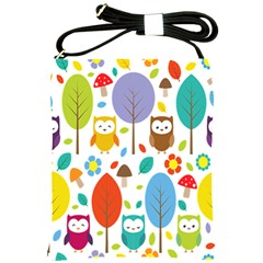 Cute Owl Shoulder Sling Bags by Nexatart