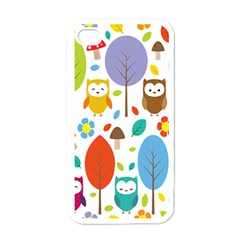 Cute Owl Apple Iphone 4 Case (white) by Nexatart