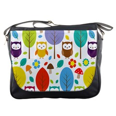 Cute Owl Messenger Bags by Nexatart