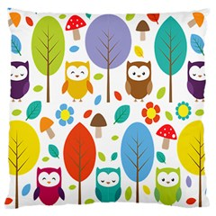 Cute Owl Large Cushion Case (one Side)