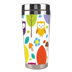 Cute Owl Stainless Steel Travel Tumblers by Nexatart