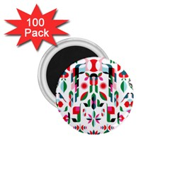 Abstract Peacock 1 75  Magnets (100 Pack)  by Nexatart