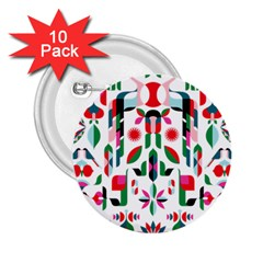 Abstract Peacock 2 25  Buttons (10 Pack)