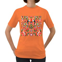 Abstract Peacock Women s Dark T Shirt