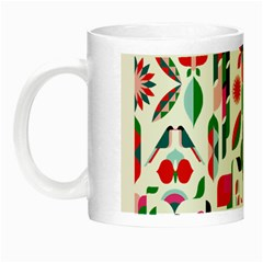 Abstract Peacock Night Luminous Mugs