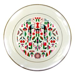 Abstract Peacock Porcelain Plates by Nexatart