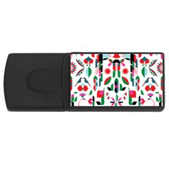 Abstract Peacock Usb Flash Drive Rectangular (4 Gb)