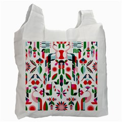 Abstract Peacock Recycle Bag (two Side)