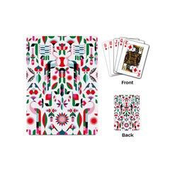 Abstract Peacock Playing Cards (mini)  by Nexatart