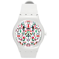 Abstract Peacock Round Plastic Sport Watch (m) by Nexatart