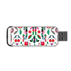 Abstract Peacock Portable Usb Flash (two Sides) by Nexatart