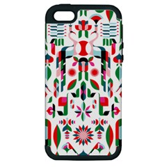 Abstract Peacock Apple Iphone 5 Hardshell Case (pc+silicone) by Nexatart