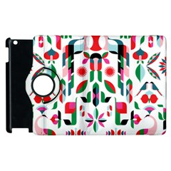 Abstract Peacock Apple Ipad 3/4 Flip 360 Case by Nexatart