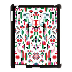 Abstract Peacock Apple Ipad 3/4 Case (black)