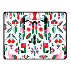Abstract Peacock Double Sided Fleece Blanket (small)