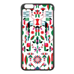Abstract Peacock Apple Iphone 6 Plus/6s Plus Black Enamel Case