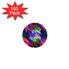 Tropical Jungle Print And Color Trends 1  Mini Buttons (100 Pack)
