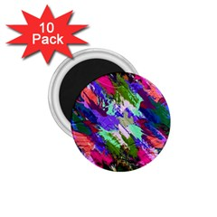 Tropical Jungle Print And Color Trends 1 75  Magnets (10 Pack)