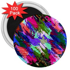 Tropical Jungle Print And Color Trends 3  Magnets (100 Pack)