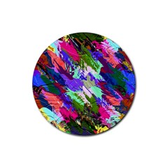 Tropical Jungle Print And Color Trends Rubber Coaster (round)  by Nexatart