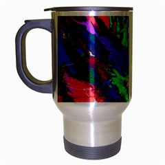 Tropical Jungle Print And Color Trends Travel Mug (silver Gray) by Nexatart