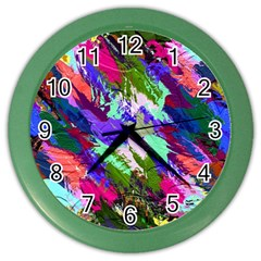 Tropical Jungle Print And Color Trends Color Wall Clocks by Nexatart