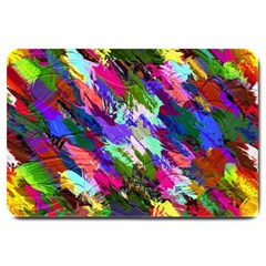 Tropical Jungle Print And Color Trends Large Doormat  by Nexatart