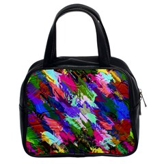 Tropical Jungle Print And Color Trends Classic Handbags (2 Sides) by Nexatart