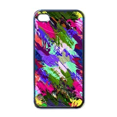 Tropical Jungle Print And Color Trends Apple Iphone 4 Case (black) by Nexatart